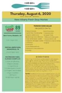 Fresh Food Stop Markets Recipes-8/4-7/2020