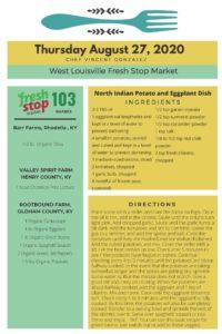 Fresh Stop Markets Food Recipes 8/25-27/2020