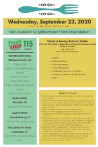Read more about the article Fresh Stop Markets Food Recipes of 9/22-24/2020