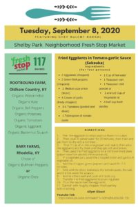 Fresh Stop Markets Food Recipes of 9/8-10/2020