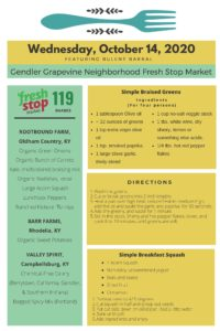 Read more about the article Fresh Stop Markets Food Recipes of 10/13-10/16/2020