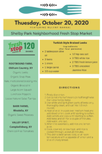 Read more about the article Fresh Stop Markets Food Recipes of 10/20-10/22/2020